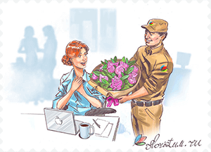 Delivery of flowers and bouquets