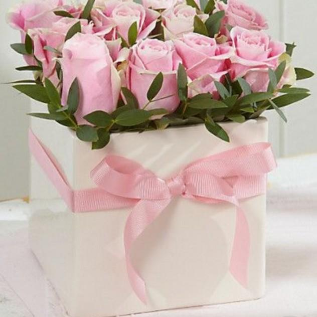 Коробка с розой.