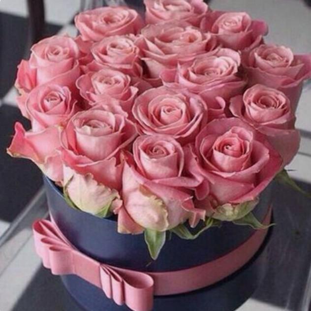 Коробка шляпная 15 роз.