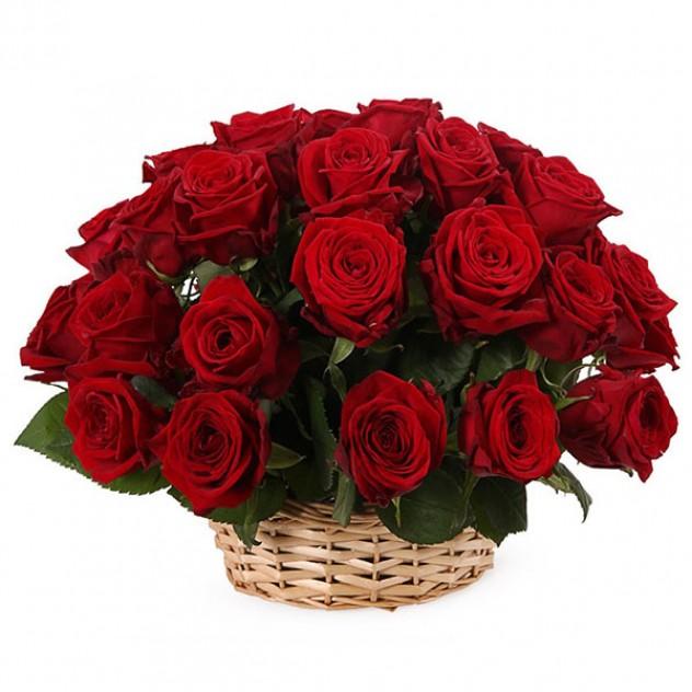 25 Роз в корзине