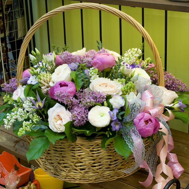 """Корзина цветов """"Это все для Тебя..."""""""