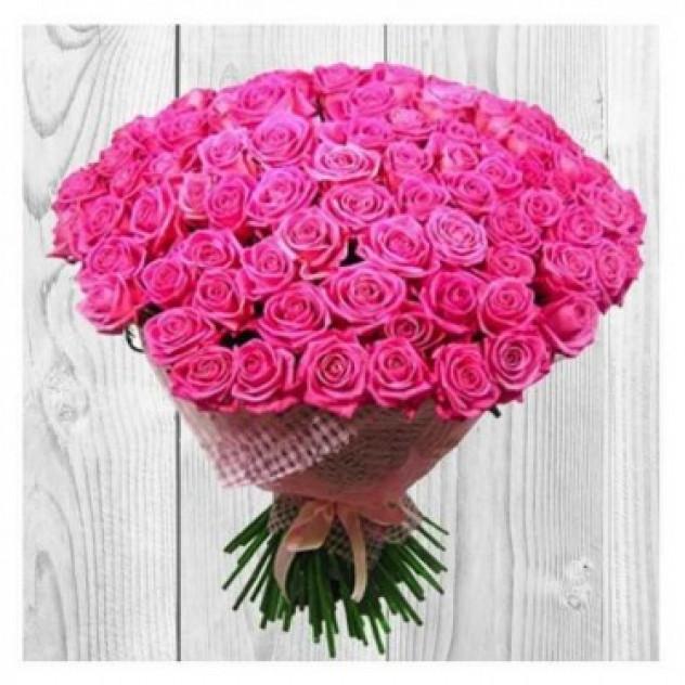 """Букет из 101 розы """"Искушение"""""""