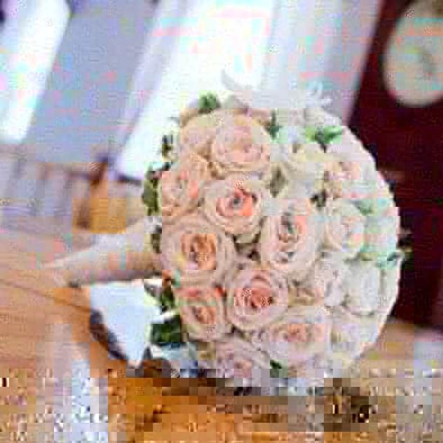 Букет свадебный из голландских роз