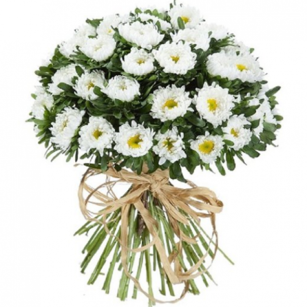 Букет из 31 белой хризантемы