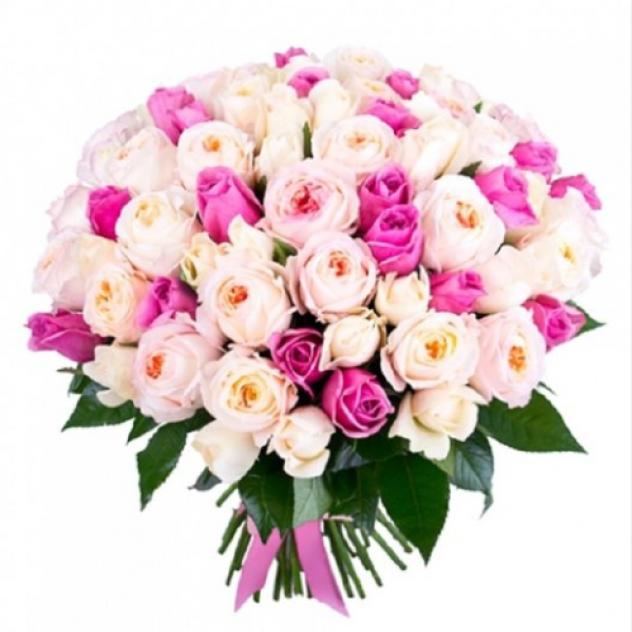 Шикарные пионовидные розы с Аква розами