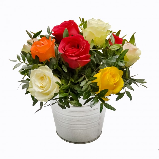 Arrangement with roses