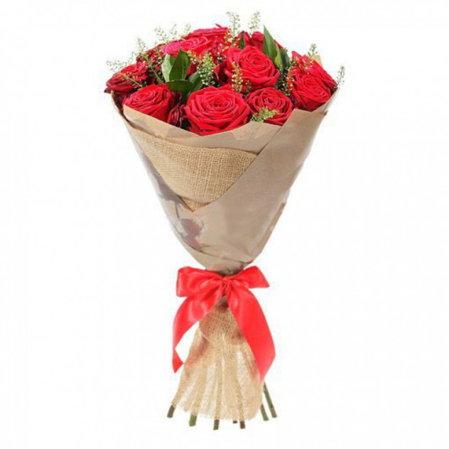 Bouquet of 11 red roses No. 4