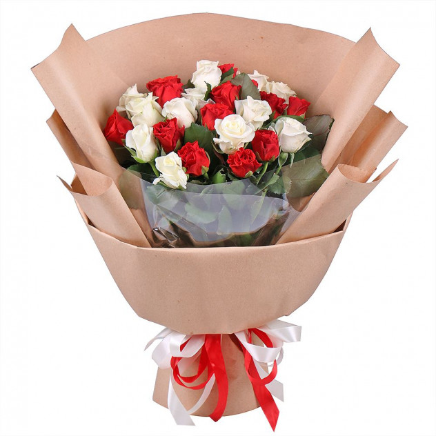 Bouquet of 25 roses
