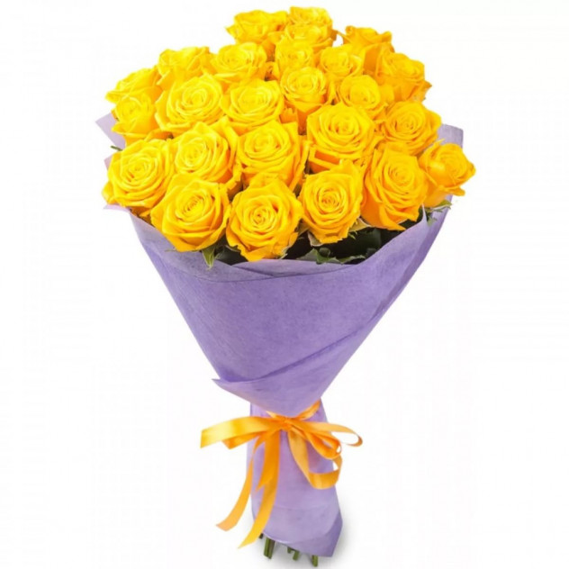 Bouquet of 29 yellow roses