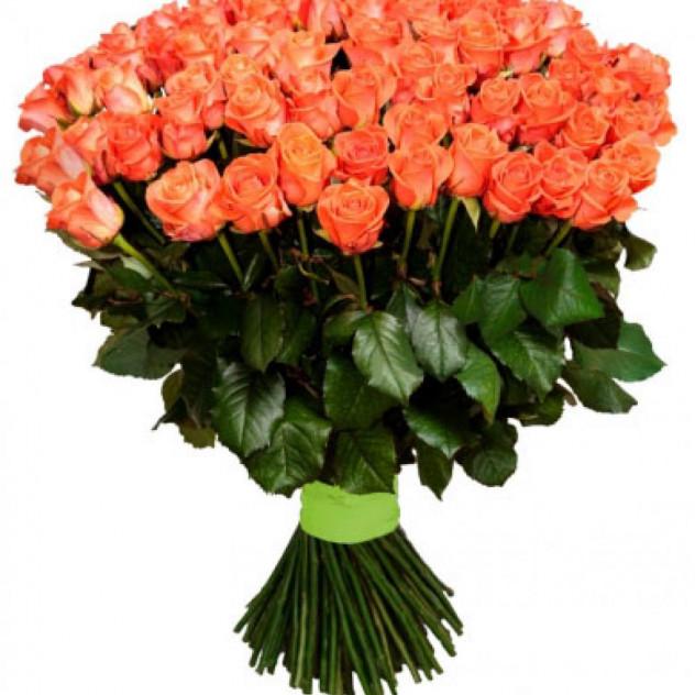 Bouquet of 101 orange roses