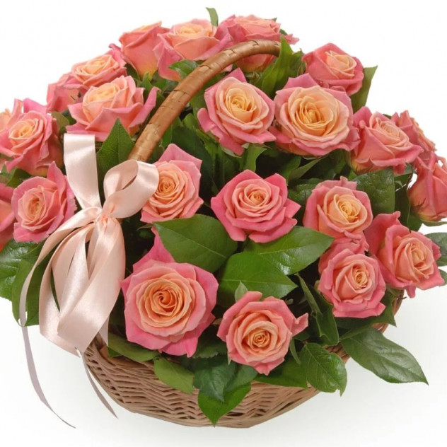Basket of 25 roses