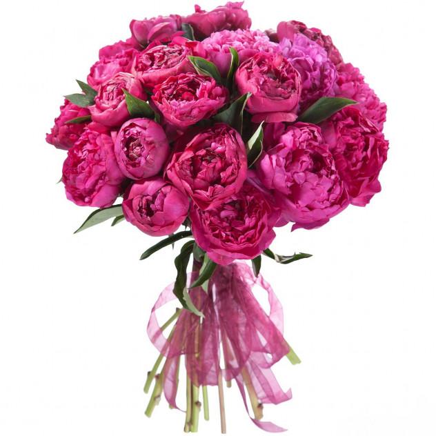 Bouquet of 21 peonies