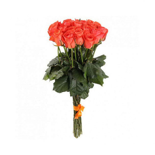 Bouquet of orange roses (from 15 pcs.)