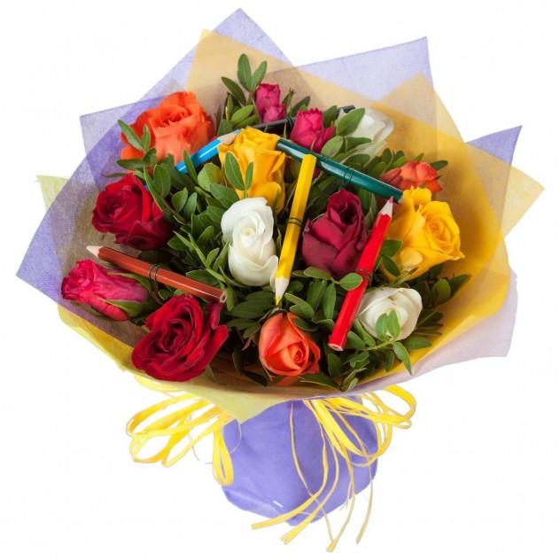 """Bouquet of roses """"School"""""""