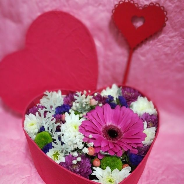 Box flower heart