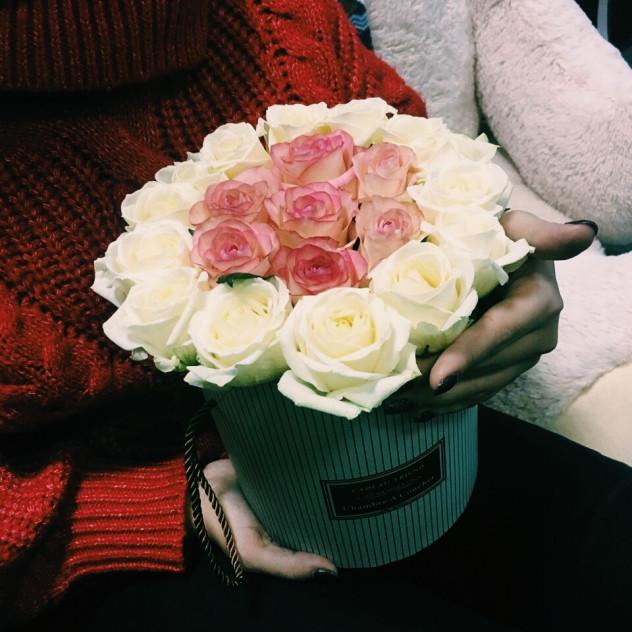 Коробочка из роз