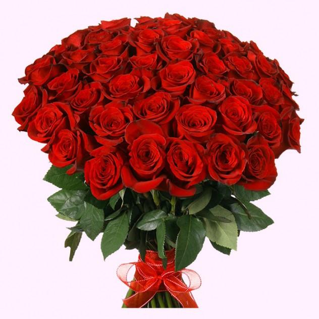 Букет из 51 элитной розы Фридом