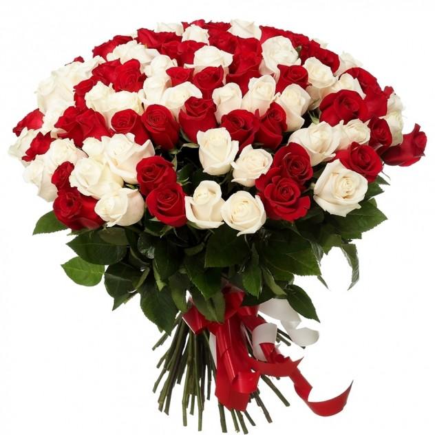 Букет из 101 элитной эквадорской розы