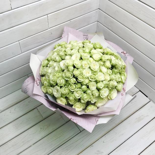 Букет 51 кустовая роза