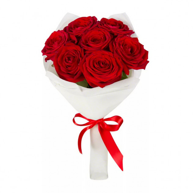 Bouquet of 7 red roses