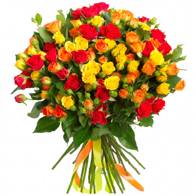 Bouquet of 25 spray roses.