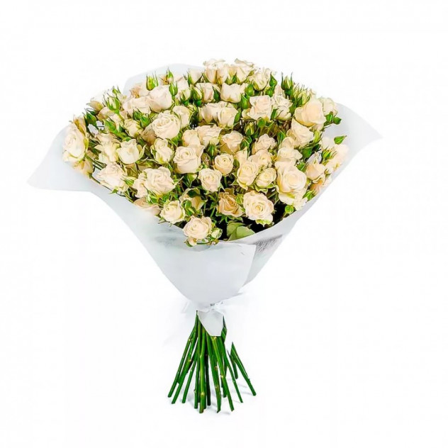 Bouquet of white spray roses