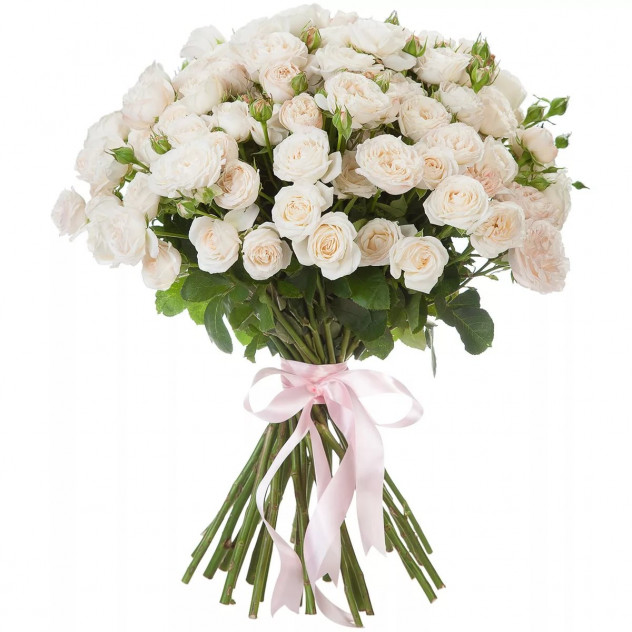 Bouquet of 25 white spray roses