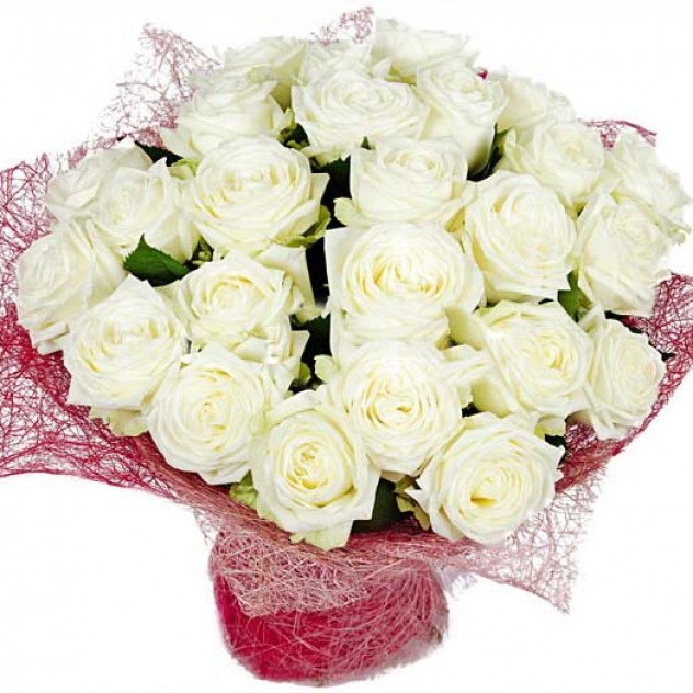 Bouquet of white roses No. 7