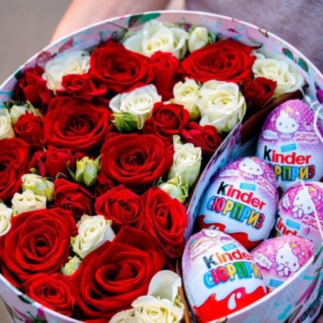 Box of flowers + Kinder